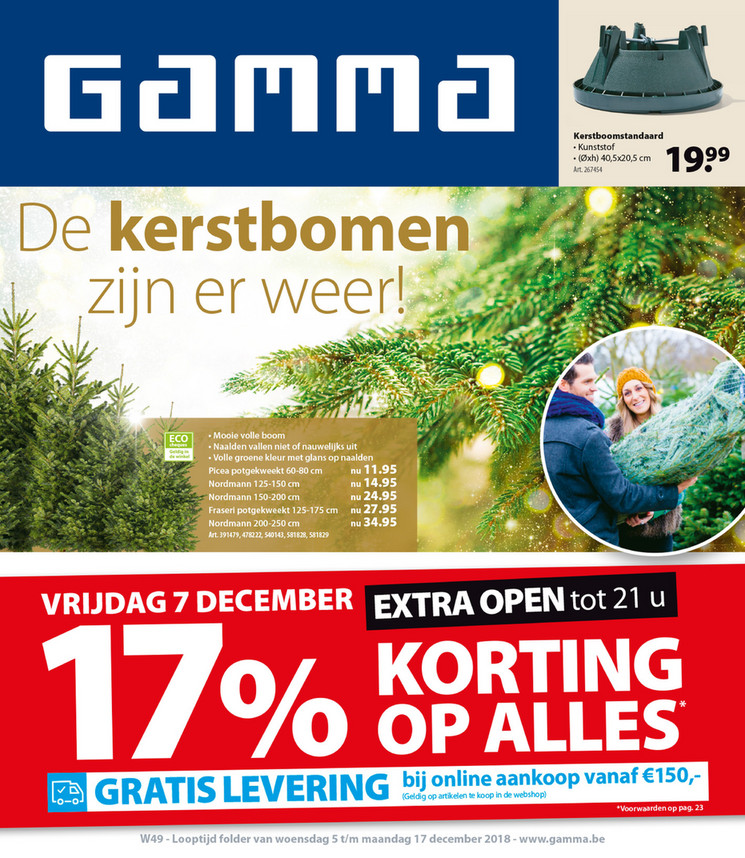 Gamma folder van 05/12/2018 tot 17/12/2018 - Weekpromoties 49