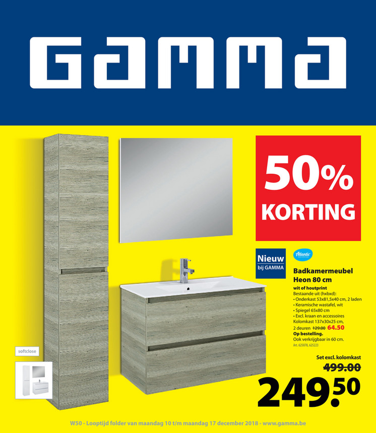 Gamma folder van 10/12/2018 tot 17/12/2018 - Weekpromoties 50