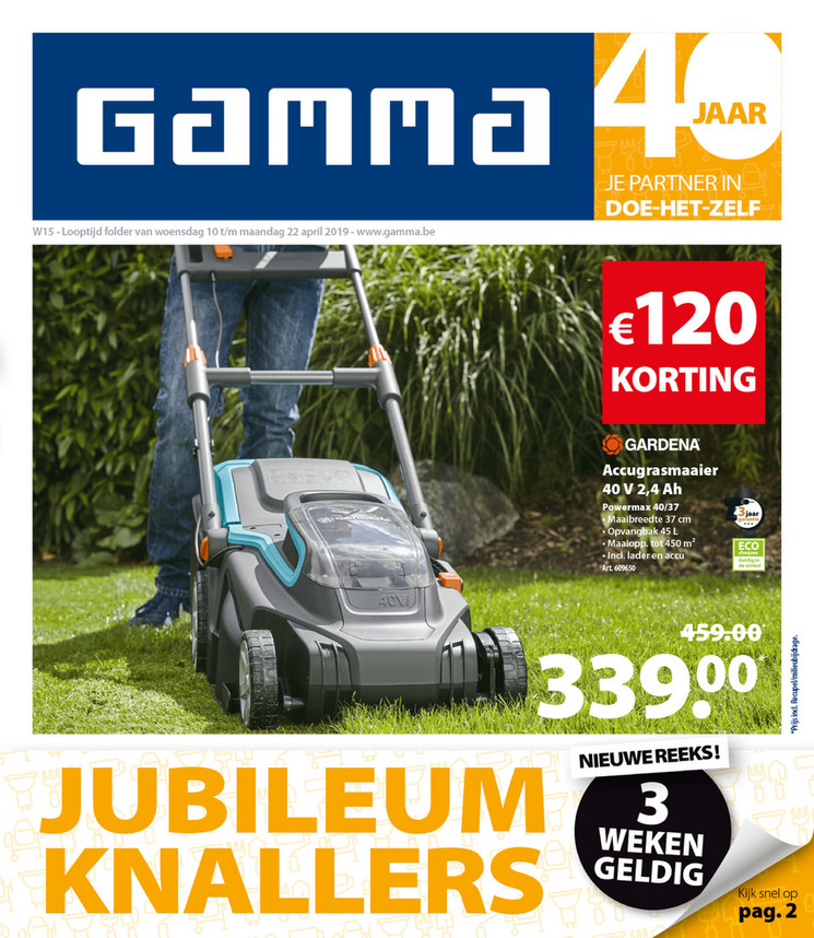 Gamma folder van 10/04/2019 tot 22/04/2019 - Weekpromoties 15