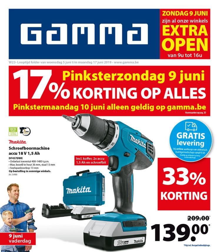 Gamma folder van 05/06/2019 tot 17/06/2019 - Weekpromoties 23