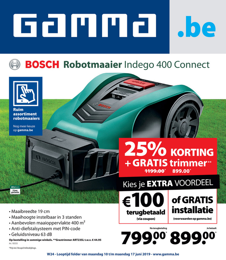 Gamma folder van 10/06/2019 tot 17/06/2019 - Weekpromoties 24