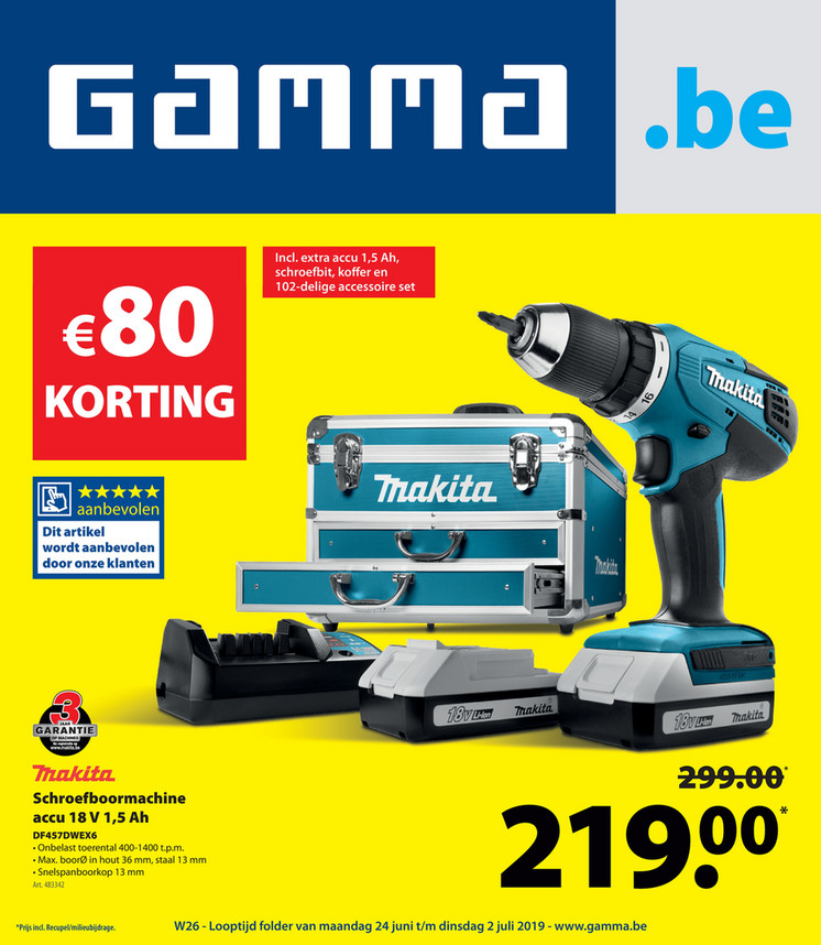 Gamma folder van 24/06/2019 tot 02/07/2019 - Weekpromoties 26