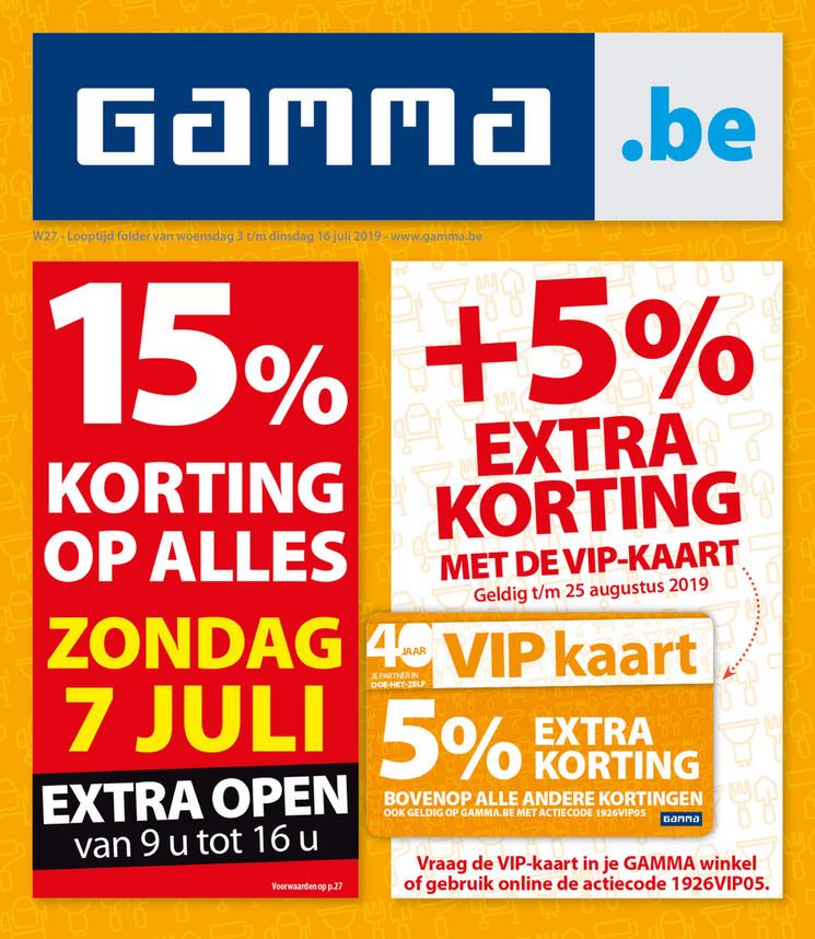 Gamma folder van 03/07/2019 tot 16/07/2019 - Weekpromoties 27