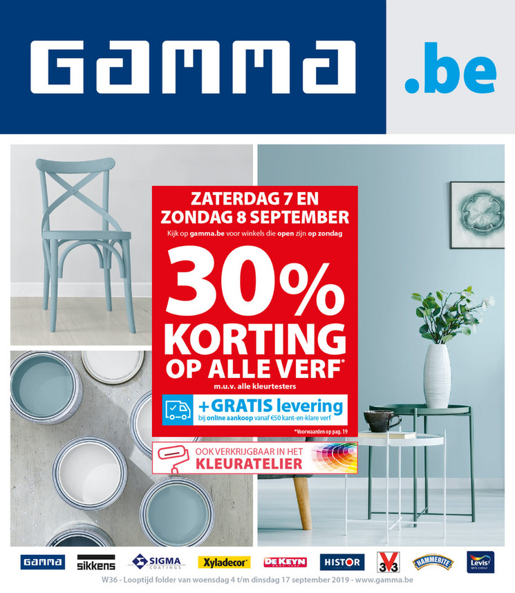 Gamma folder van 04/09/2019 tot 17/09/2019 - Weekpromoties 36