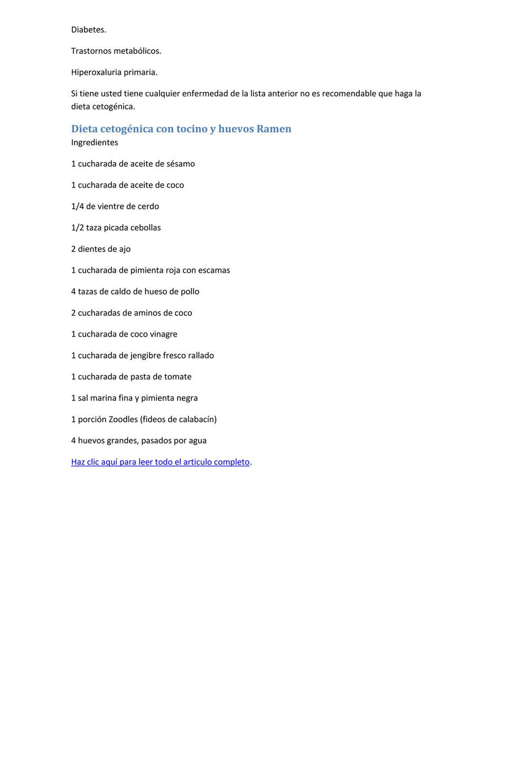 Desventajas de la dieta cetogenica pdf