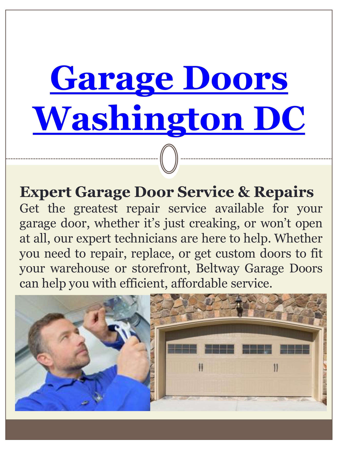 Garage Doors Dc Garage Door Replacement Washington Dc Page 1