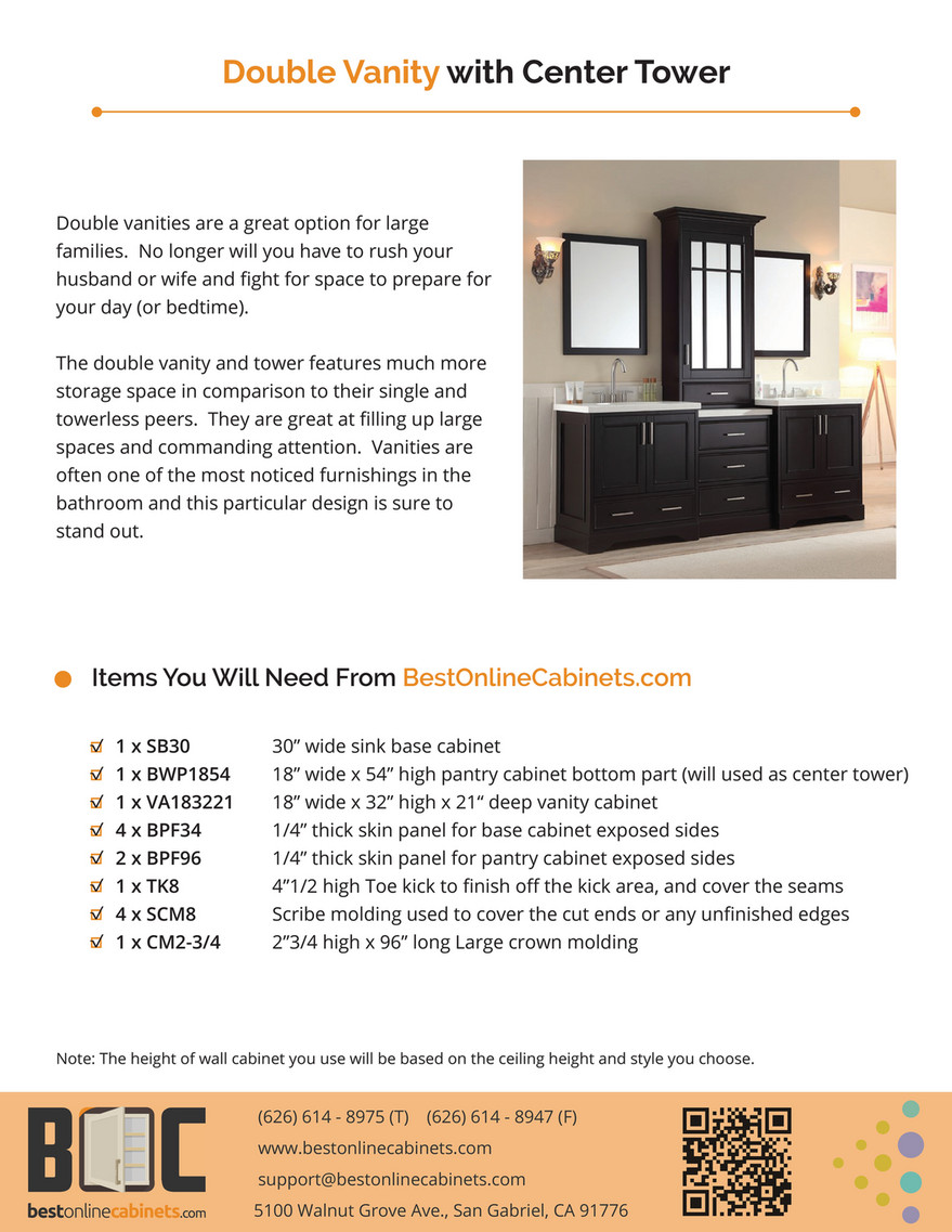 Bestonlinecabinets Design Idea Double Vanity With Center Tower Page 2 Created With Publitas Com