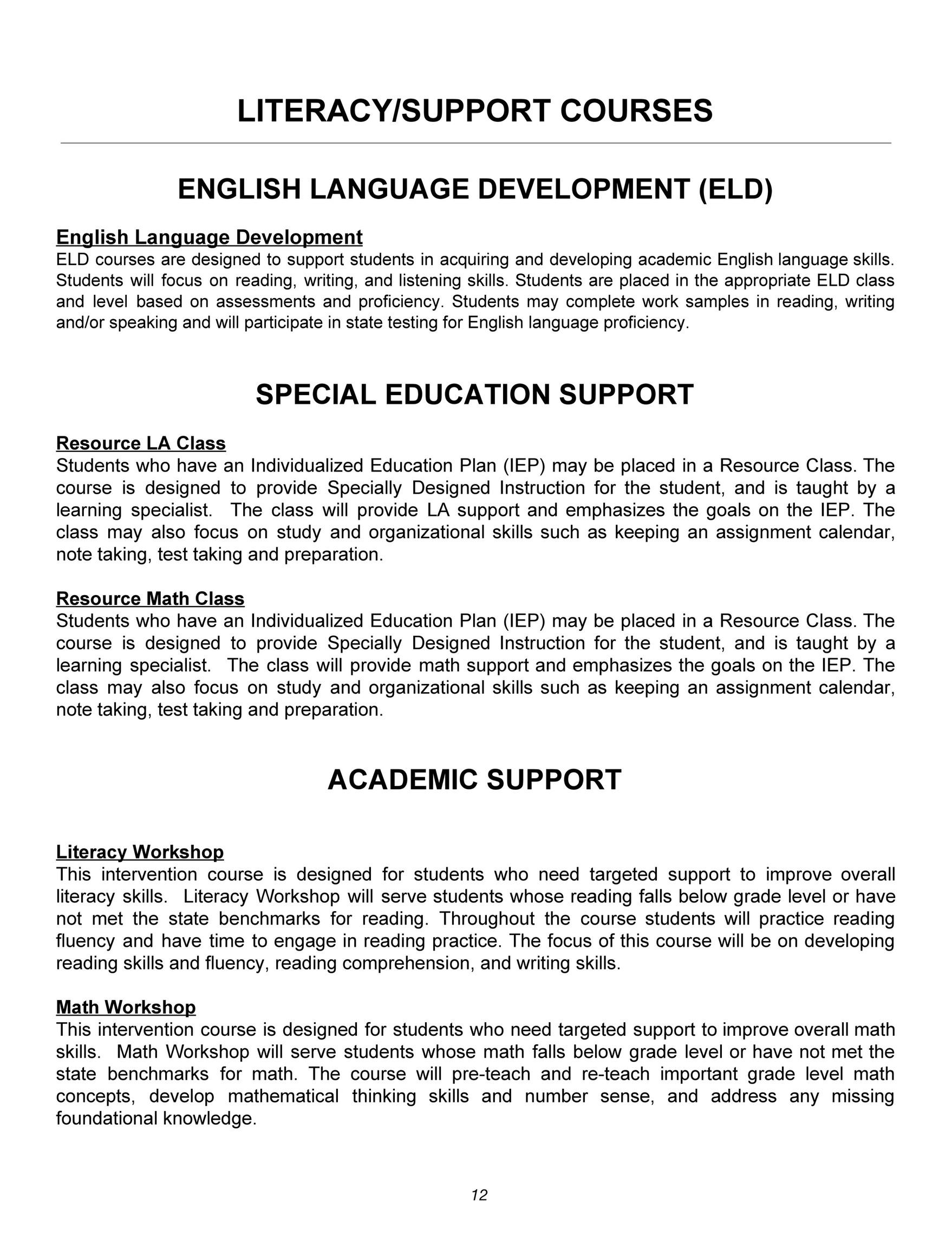 North Clackamas School District Rcms Rock Creek Middle School 2017 2018 Course Catalog Page 6 7 Created With Publitas Com