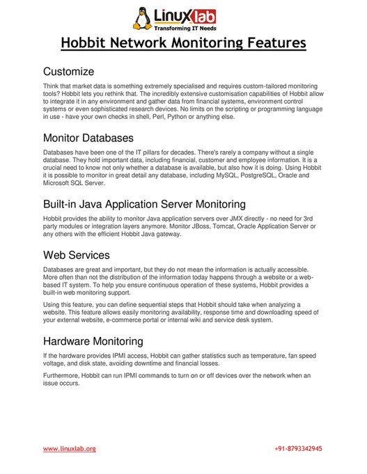 Linux Lab - Hobbit Network Monitoring Tools - Page 2-3 - Created