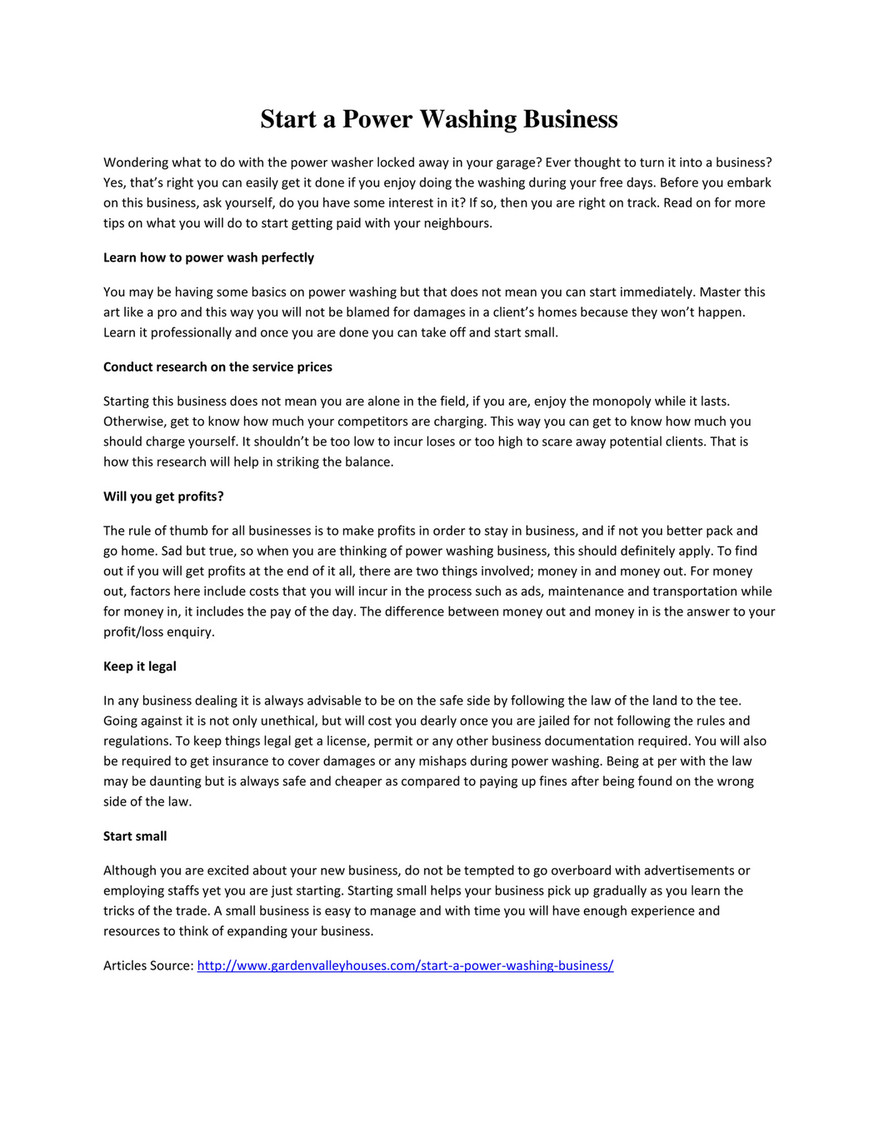 GIT - Start a Power Washing Business - Page 1 - Created with