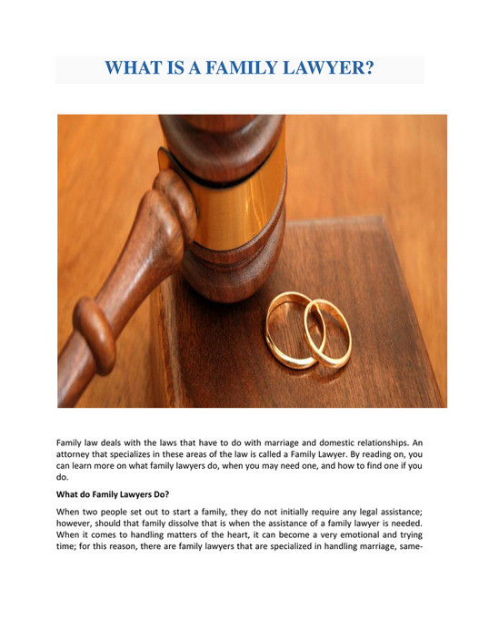 GIT - WHAT IS A FAMILY LAWYER? - Page 1 - Created with