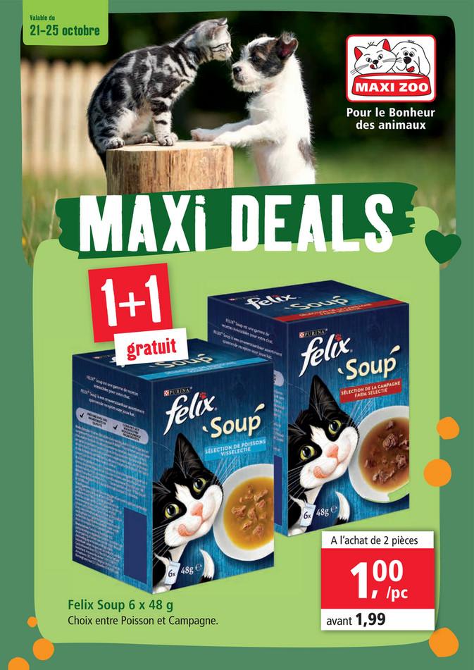 Folder Maxi Zoo du 21/10/2020 au 25/10/2020 - Promotions de la semaine 43
