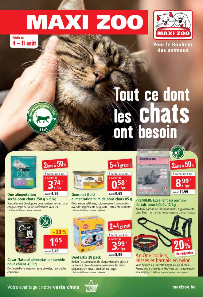 Folder Maxi Zoo du 04/08/2021 au 11/08/2021 - Promotions de la semaine 32