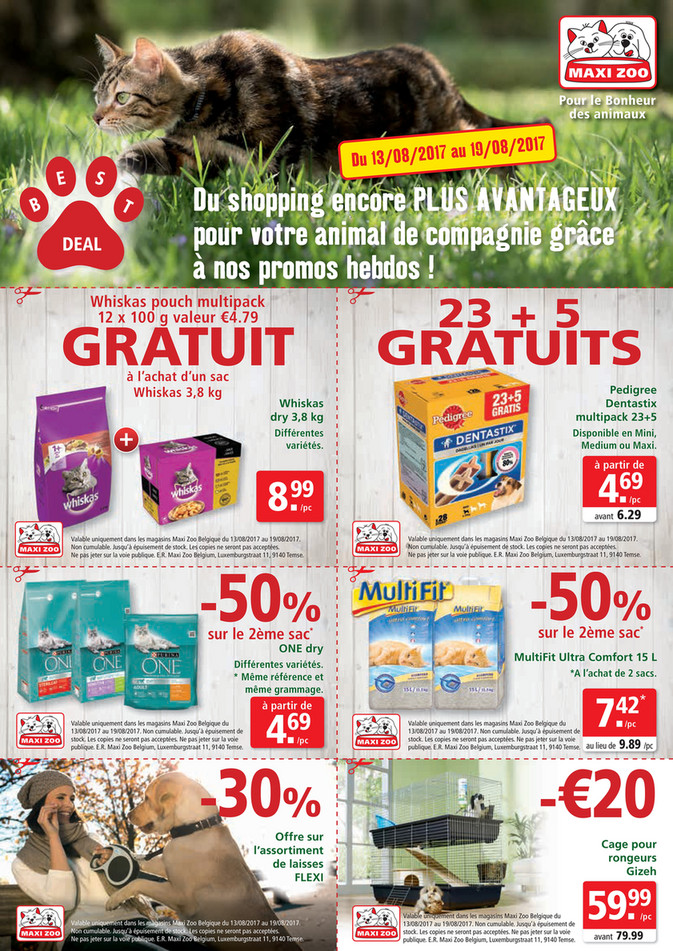 Folder Maxi Zoo du 13/08/2017 au 19/08/2017 - Maxi Zoo Bestdeal Aug FR W2.pdf