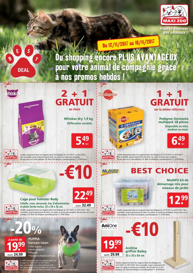 Folder Maxi Zoo du 12/11/2017 au 18/11/2017 - Maxi Zoo Bestdeal November FR W2web.pdf