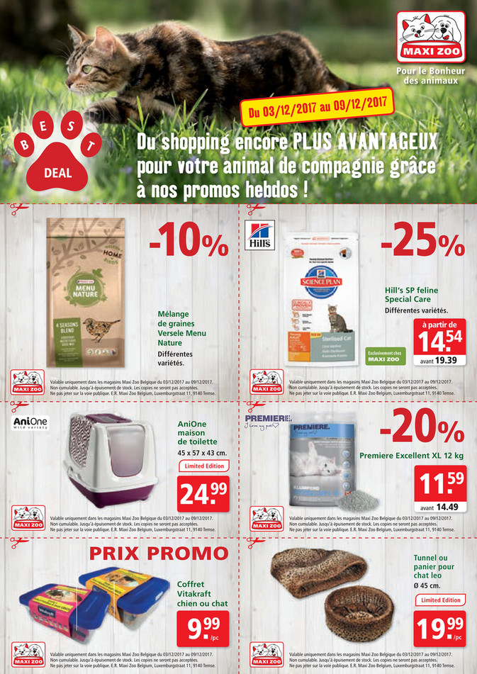 Folder Maxi Zoo du 03/12/2017 au 09/12/2017 - Maxi Zoo Bestdeal December FR W1 web.pdf