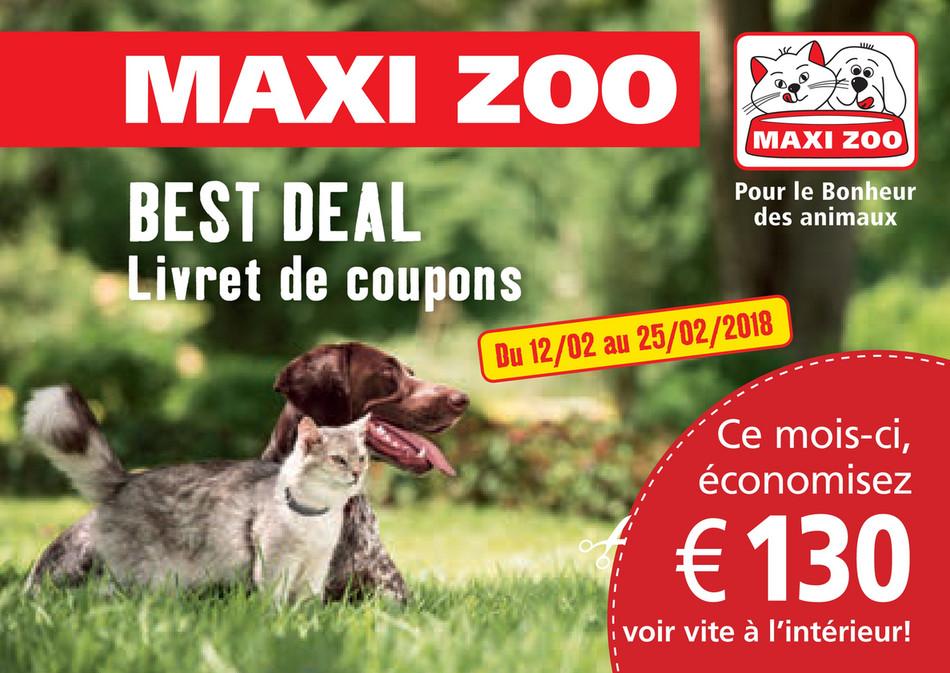Folder Maxi Zoo du 12/02/2018 au 25/02/2018 - Best Deal: Livret de coupons Février