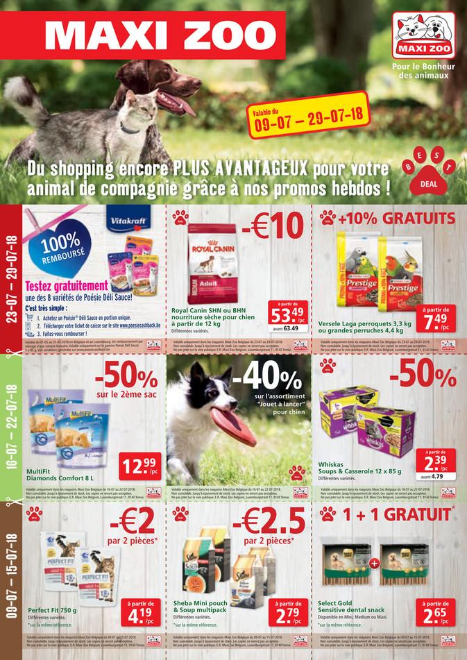Folder Maxi Zoo du 09/07/2018 au 29/07/2018 - Best Deals Juli FR Web.pdf