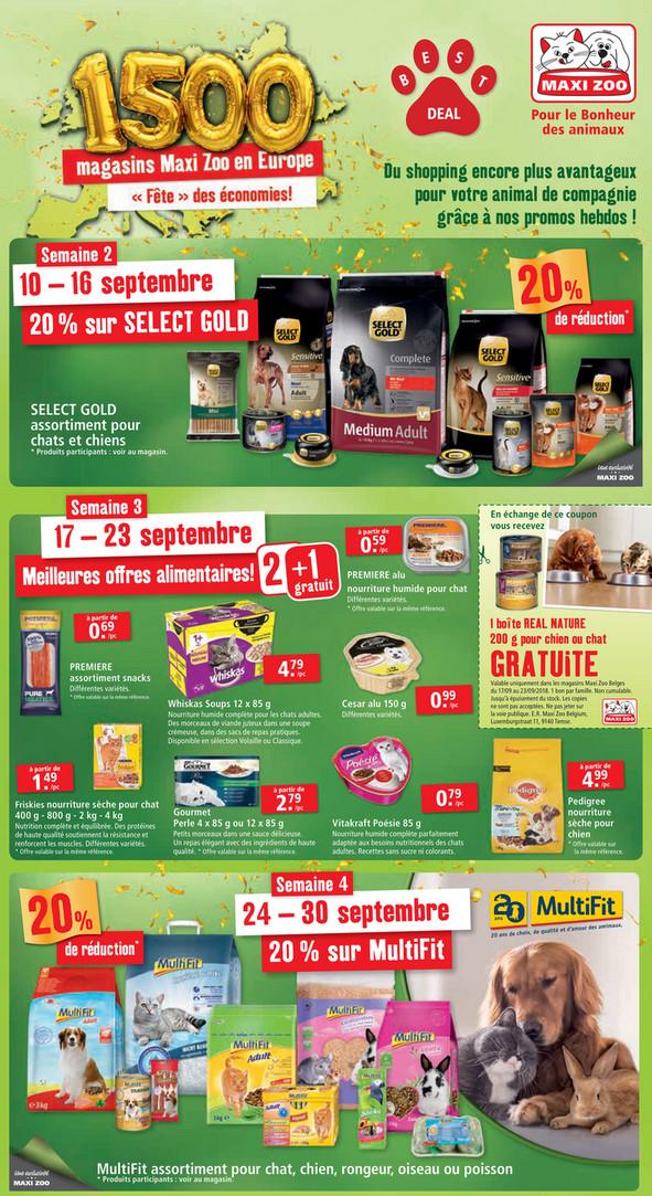Folder Maxi Zoo du 10/09/2018 au 30/09/2018 - Promotions de la semaine 37