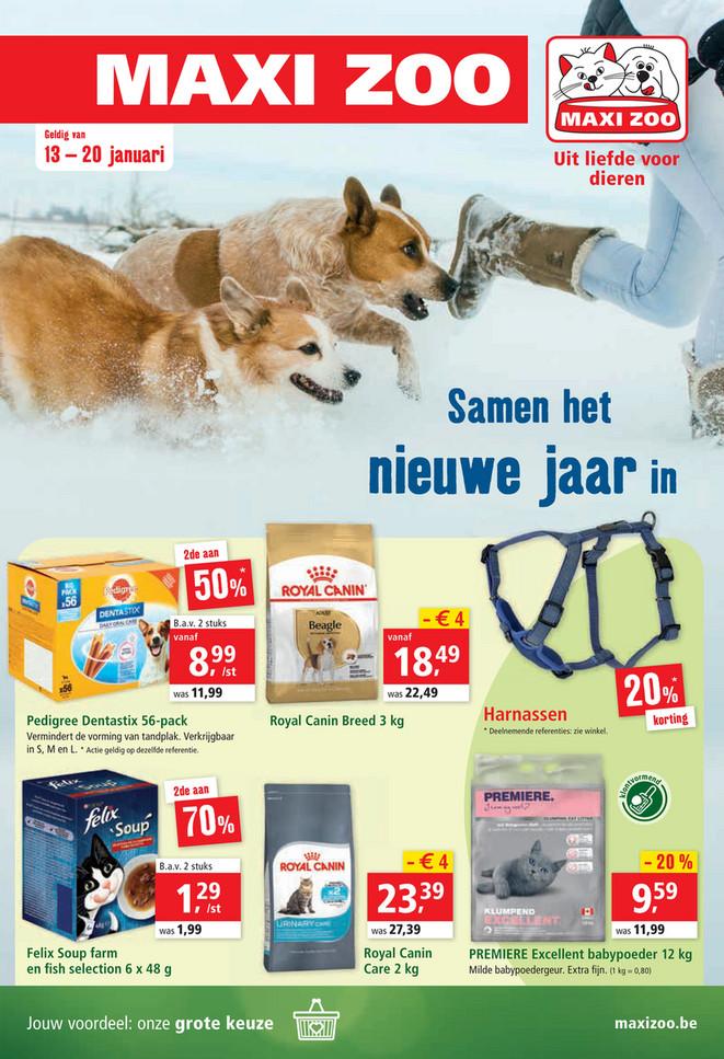 Maxi Zoo folder van 13/01/2021 tot 20/01/2021 - Weekpromoties 2