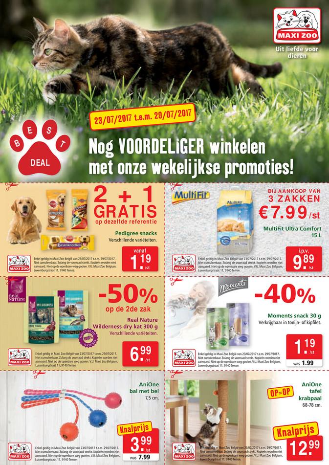 Maxi Zoo folder van 23/07/2017 tot 29/07/2017 - Maxi Zoo Bestdeal Juli W4 NL web.pdf