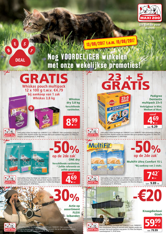 Maxi Zoo folder van 13/08/2017 tot 19/08/2017 - Maxi Zoo Bestdeal Aug NL W2.pdf