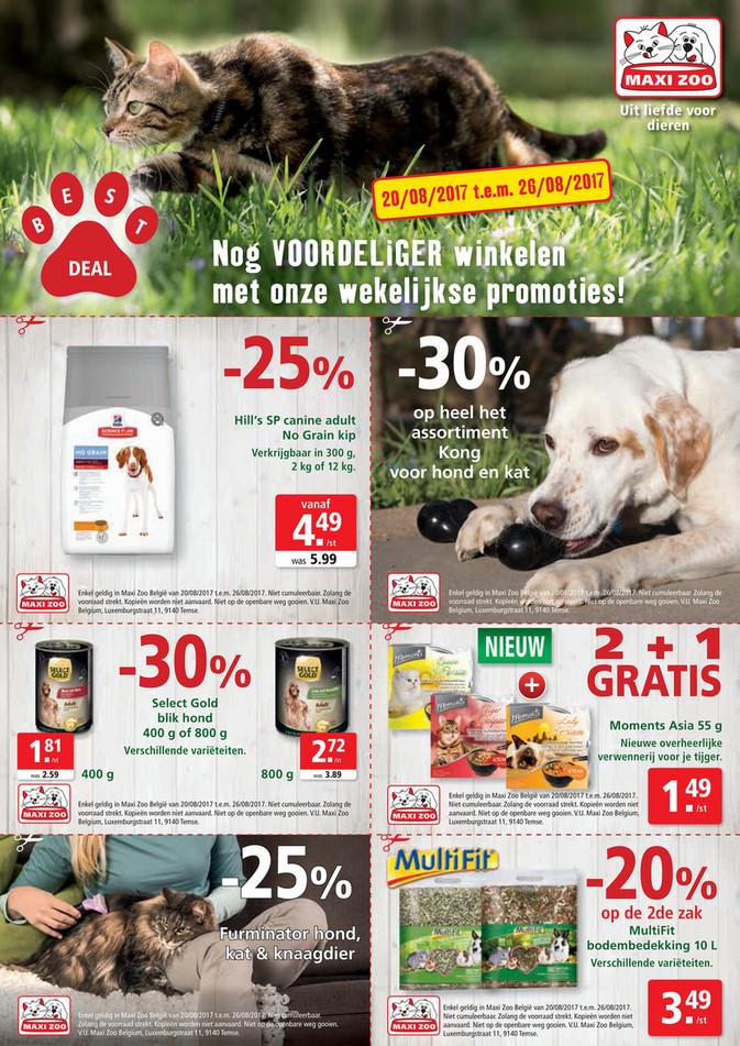 Maxi Zoo folder van 20/08/2017 tot 26/08/2017 - Maxi Zoo Bestdeal Aug NL W3.pdf
