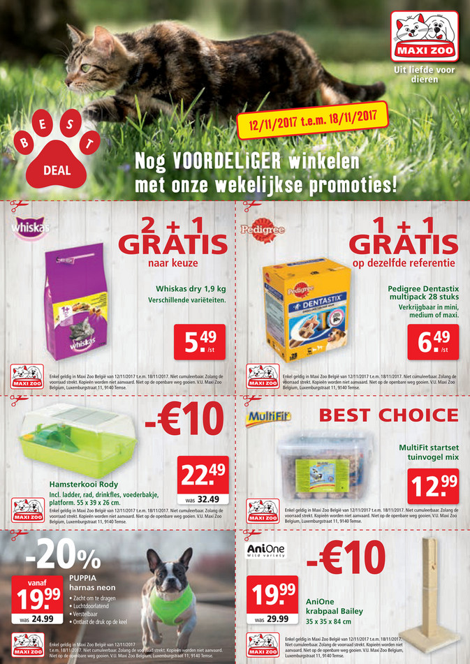 Maxi Zoo folder van 12/11/2017 tot 18/11/2017 - Maxi Zoo Bestdeal November NL W2web.pdf