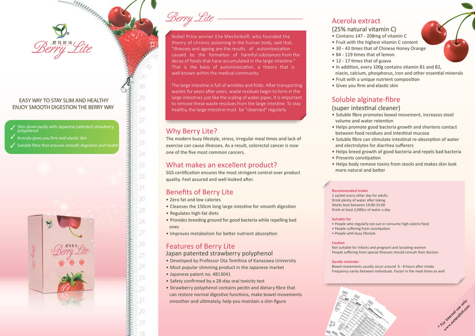 Extend International - Berrylite Brochure - Page 1 - Created