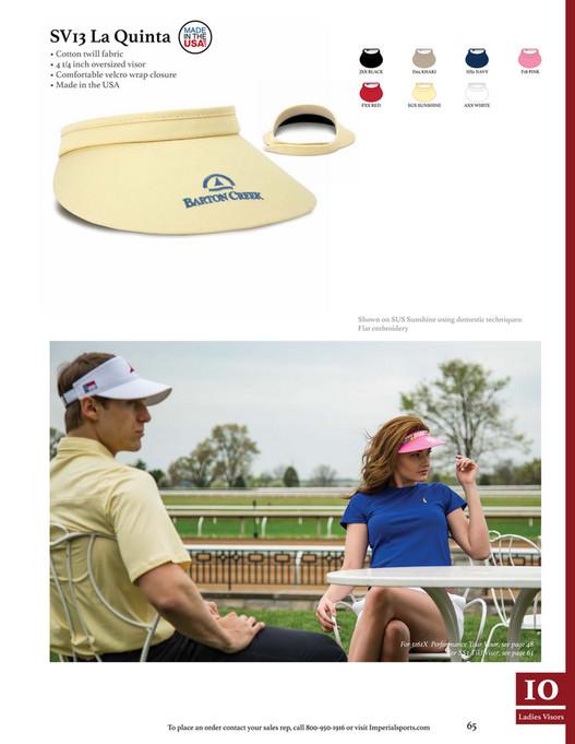 c4017d32e57 ... SV13 La Quinta • Cotton twill fabric • 4 1 4 inch oversized visor •