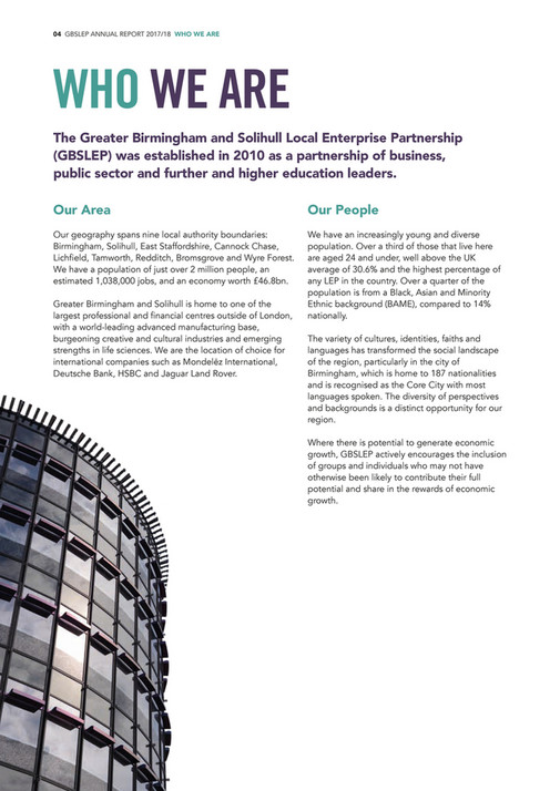 GBSLEP Annual Report 2017-18 - Page 1 - Created with Publitas com