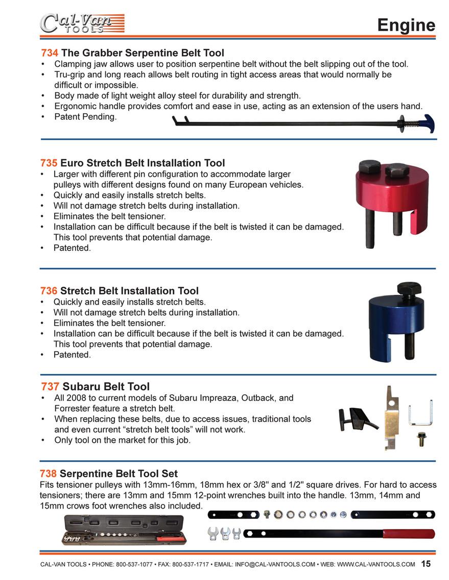 Cal-Van Tools 736 Stretch Belt Installation Tool