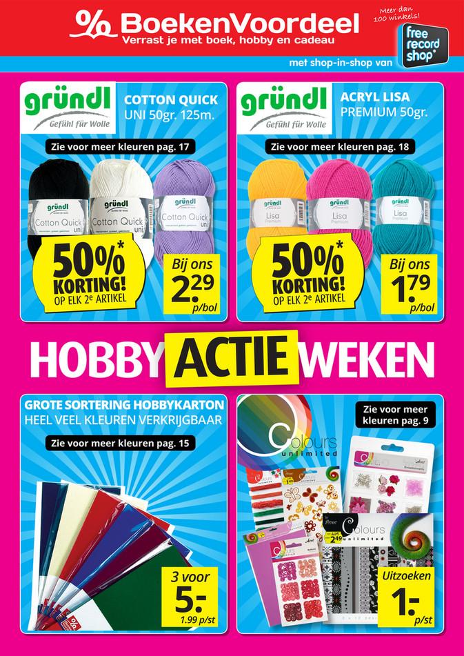 BoekenVoordeel folder van 29/01/2018 tot 01/04/2018 - Hobby actie weken
