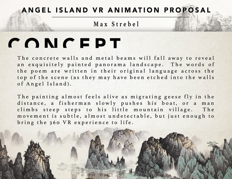My publications - Angel Island VR Animation Proposal - Page