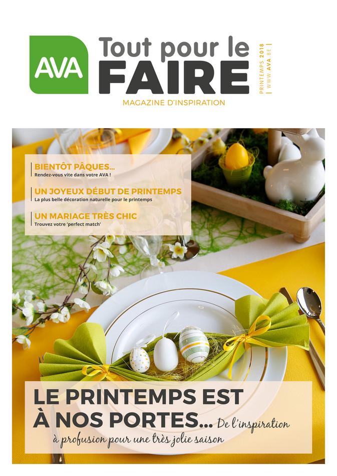 Folder Ava du 01/03/2018 au 15/04/2018 - Ava Magazine Voorjaar 2018