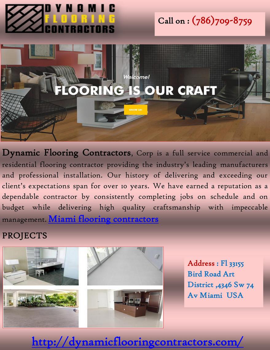 Dynamicflooringcontractors Miami Flooring Contractors Page 1
