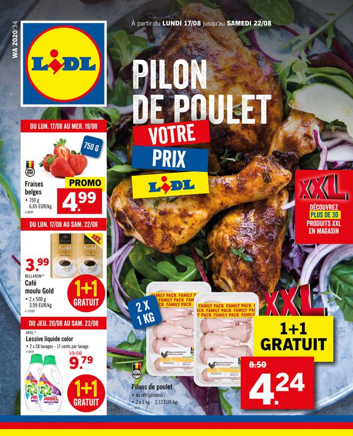 Folder Lidl du 17/08/2020 au 22/08/2020 - Promotions de la semaine 34