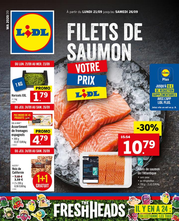 Folder Lidl du 21/09/2020 au 26/09/2020 - Promotions de la semaine 39