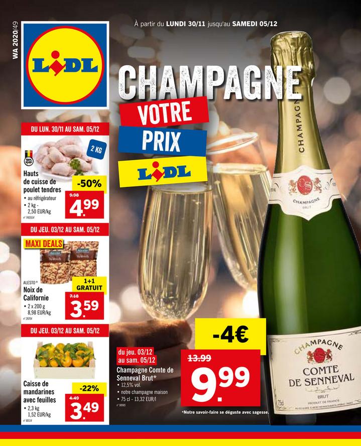 Folder Lidl du 30/11/2020 au 05/12/2020 - Promotions de la semaine 49
