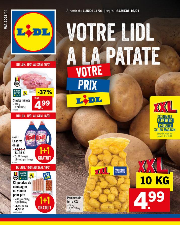 Folder Lidl du 11/01/2021 au 16/01/2021 - Promotions de la semaine 2