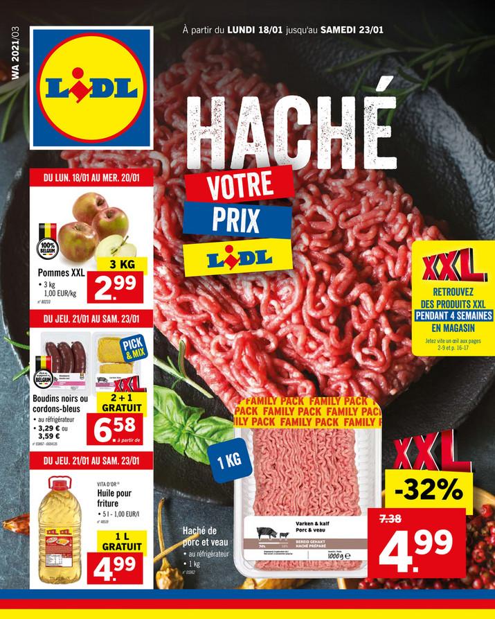 Folder Lidl du 18/01/2021 au 23/01/2021 - Promotions de la semaine 3
