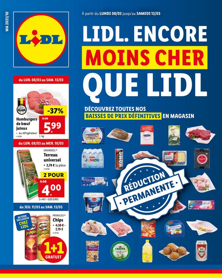 Folder Lidl du 08/03/2021 au 13/03/2021 - Promotions de la semaine 10