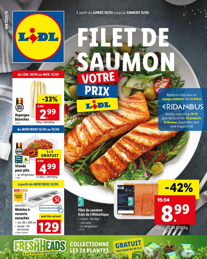 Folder Lidl du 10/05/2021 au 15/05/2021 - Promotions de la semaine 19