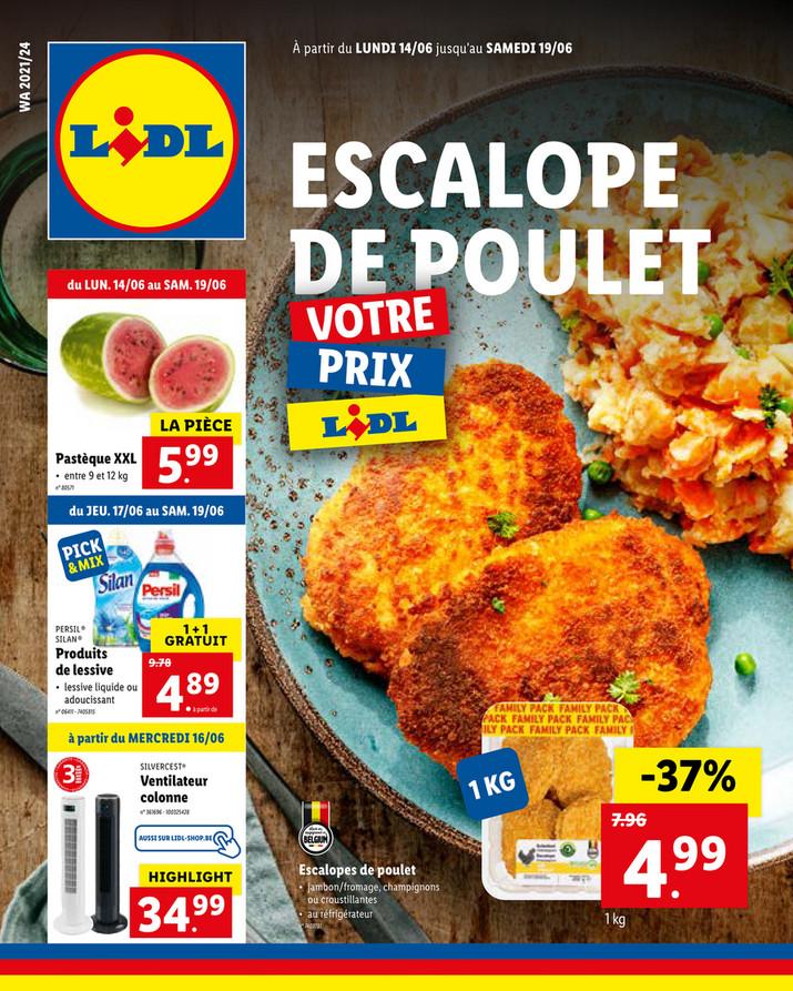 Folder Lidl du 14/06/2021 au 19/06/2021 - Promotions de la semaine 24