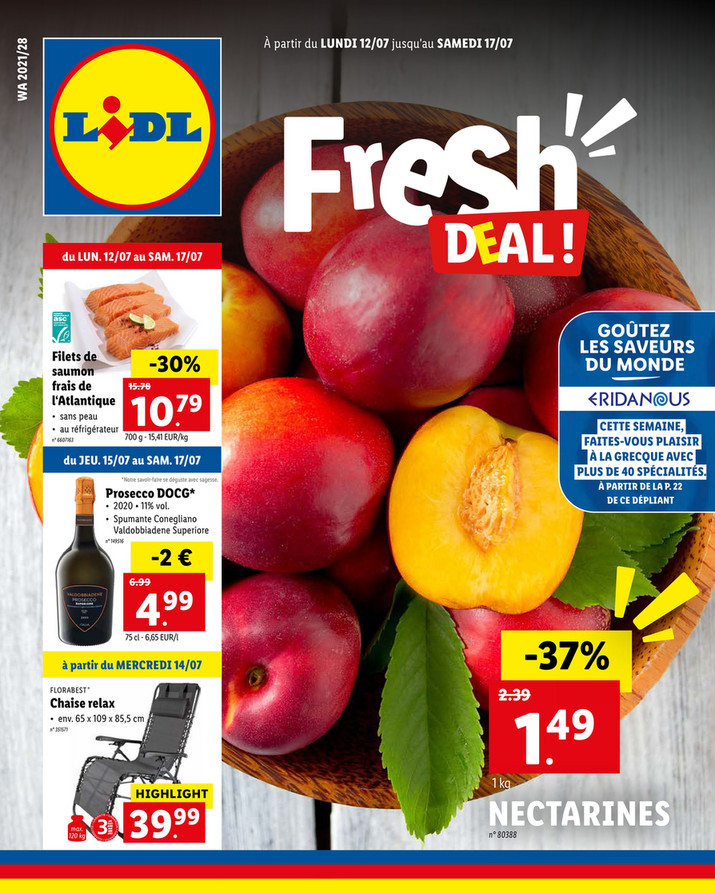 Folder Lidl du 12/07/2021 au 17/07/2021 - Promotions de la semaine 28