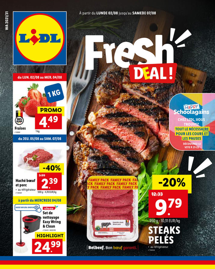 Folder Lidl du 02/08/2021 au 07/08/2021 - Promotions de la semaine 31