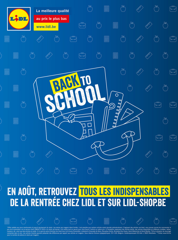Folder Lidl du 02/08/2018 au 25/08/2018 - Lidl Back to school FR
