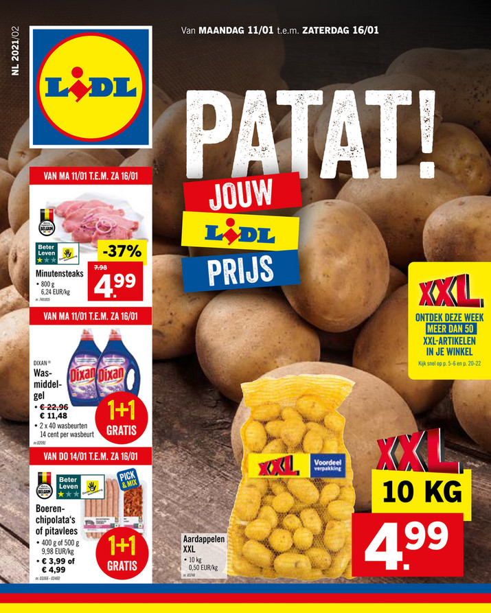 Lidl folder van 11/01/2021 tot 16/01/2021 - Weekpromoties 2