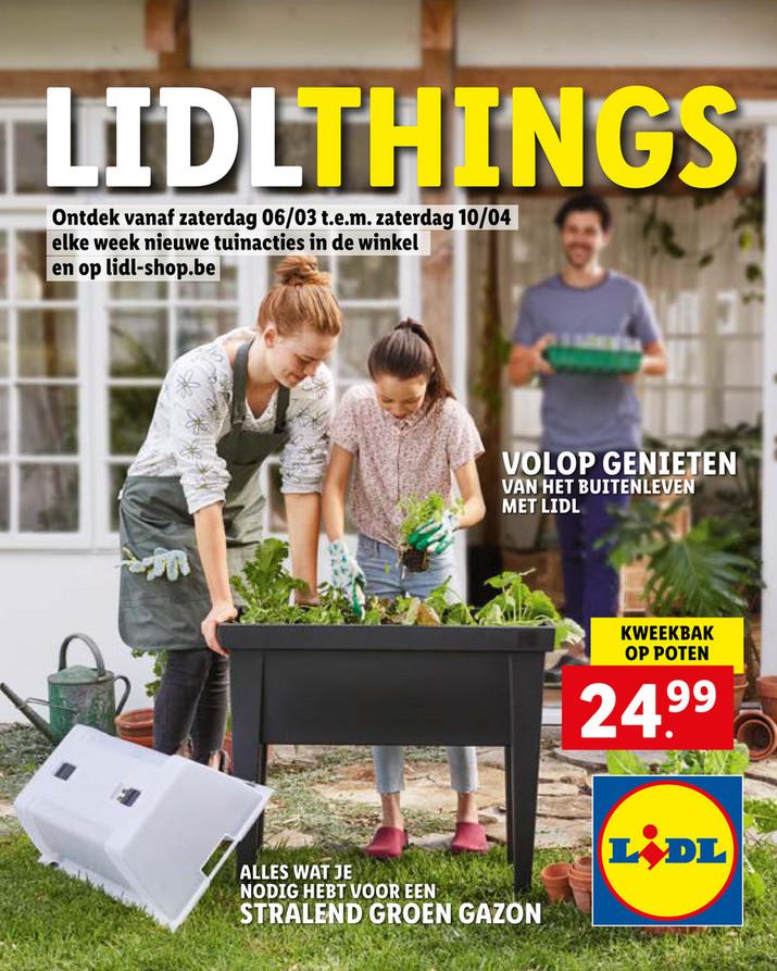 Lidl folder van 06/03/2021 tot 10/04/2021 - Promoties - tuin