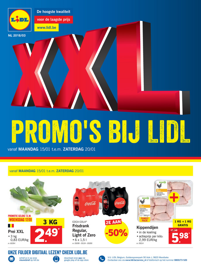 Lidl folder van 12/01/2018 tot 20/01/2018 - Weekaanbiedingen solden week 3 2018